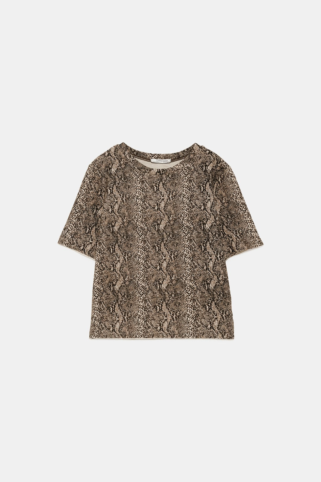 Image 8 of SOFT-TOUCH HIGH NECK T-SHIRT from Zara
