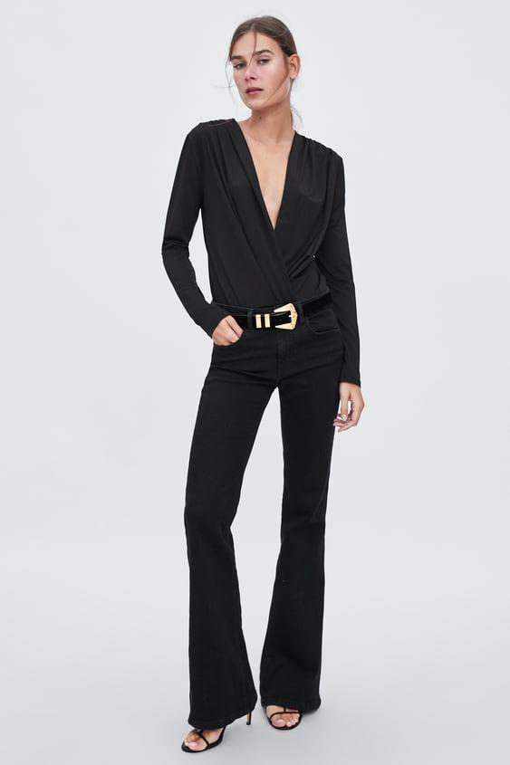 Crossover Bodysuit  Bodytrf by Zara