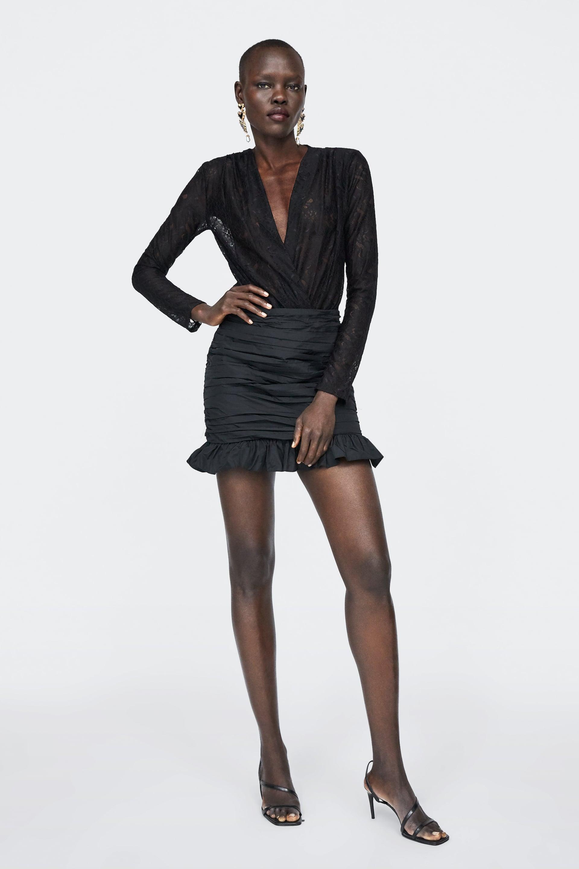 Bodysuit With Lace  New Inwoman by Zara