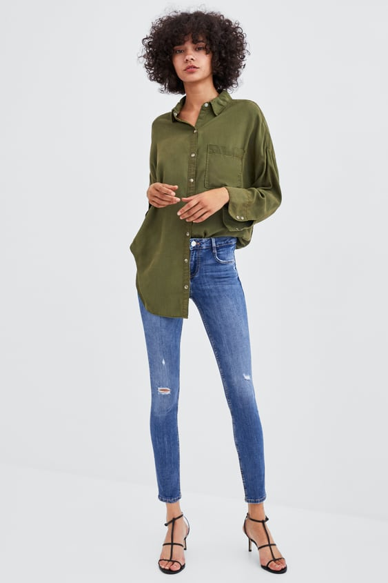 Ripped Low Rise Sculpt Jeans View All Jeans Woman Sale by Zara