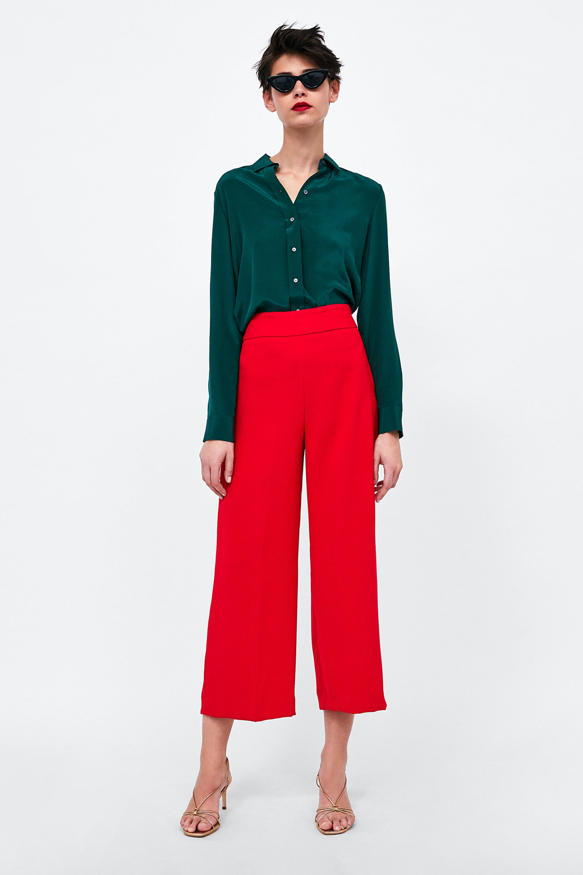 Image 1 of HIGH-WAIST PANTS from Zara