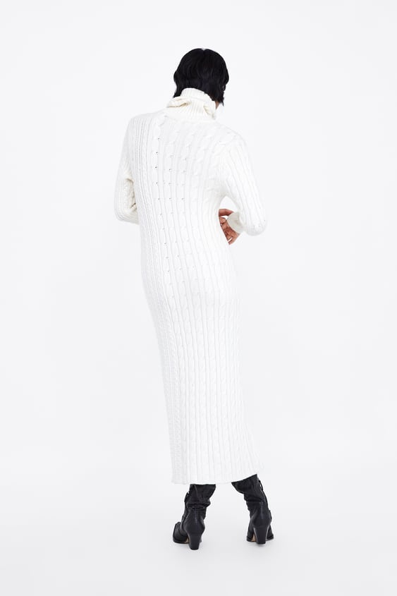 Long Cable Knit Dress  Maxi Dresses Woman by Zara