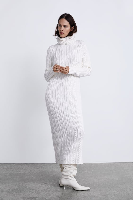 Long Cable Knit Dress  Winter Moodwoman by Zara