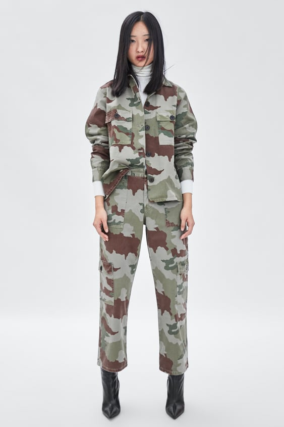Camouflage Cargo Trousers  Coord Sets Trf by Zara