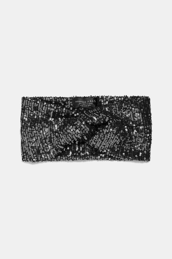 Sequinned Headband  View All Accessories Woman by Zara