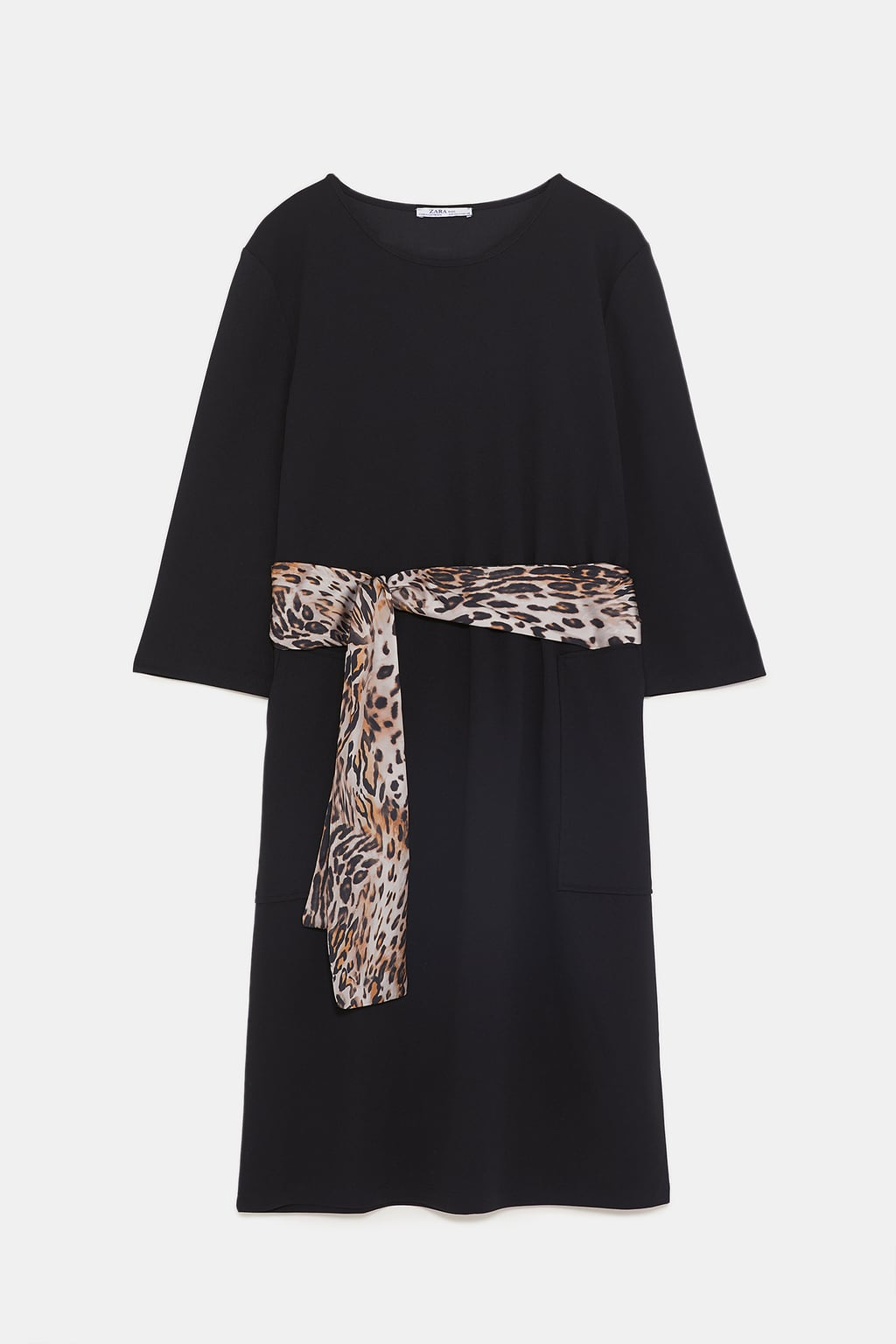 Image 8 of DRESS WITH PRINTED BELT from Zara