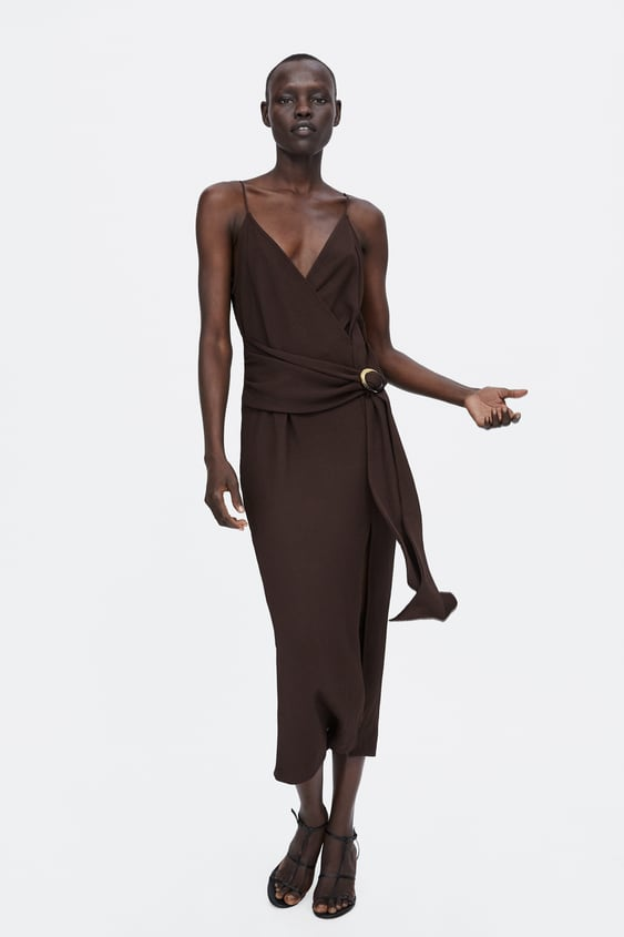 Wrap Dress With Buckle Party Dresses Woman Zara United States