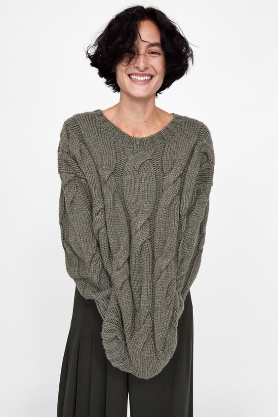 e8384bf47 OVERSIZED CABLE - KNIT SWEATER-View all-KNITWEAR-WOMAN