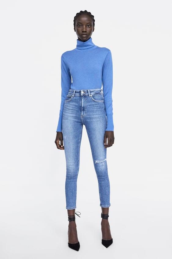 Jeans Zw Premium 80´S High Waist Venice Blue Ver Tudo Jeans Mulher by Zara