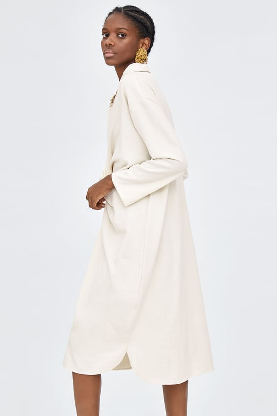 dae99e4049 Image 4 of KNOTTED SHIRT DRESS from Zara