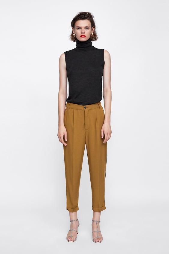 PantalÓn Cintura ElÁstica Pantalones De Vestir Pantalones Mujer Rebajas by Zara