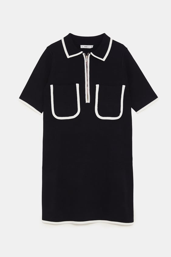 0690eaf092 POLO-STYLE DRESS WITH CONTRASTING TRIMS