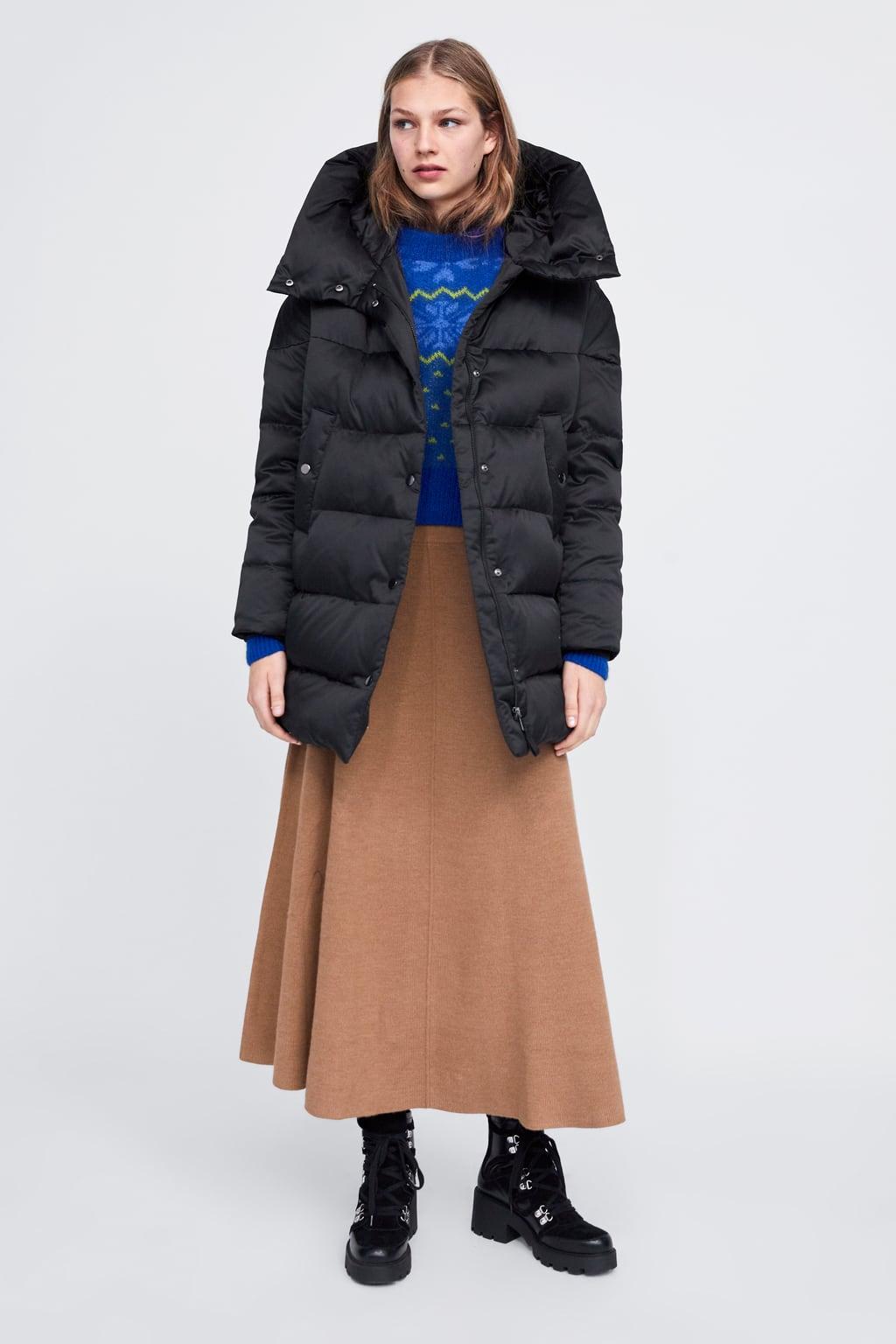 Hooded Down Puffer Coat  Down Filled Coats Woman by Zara