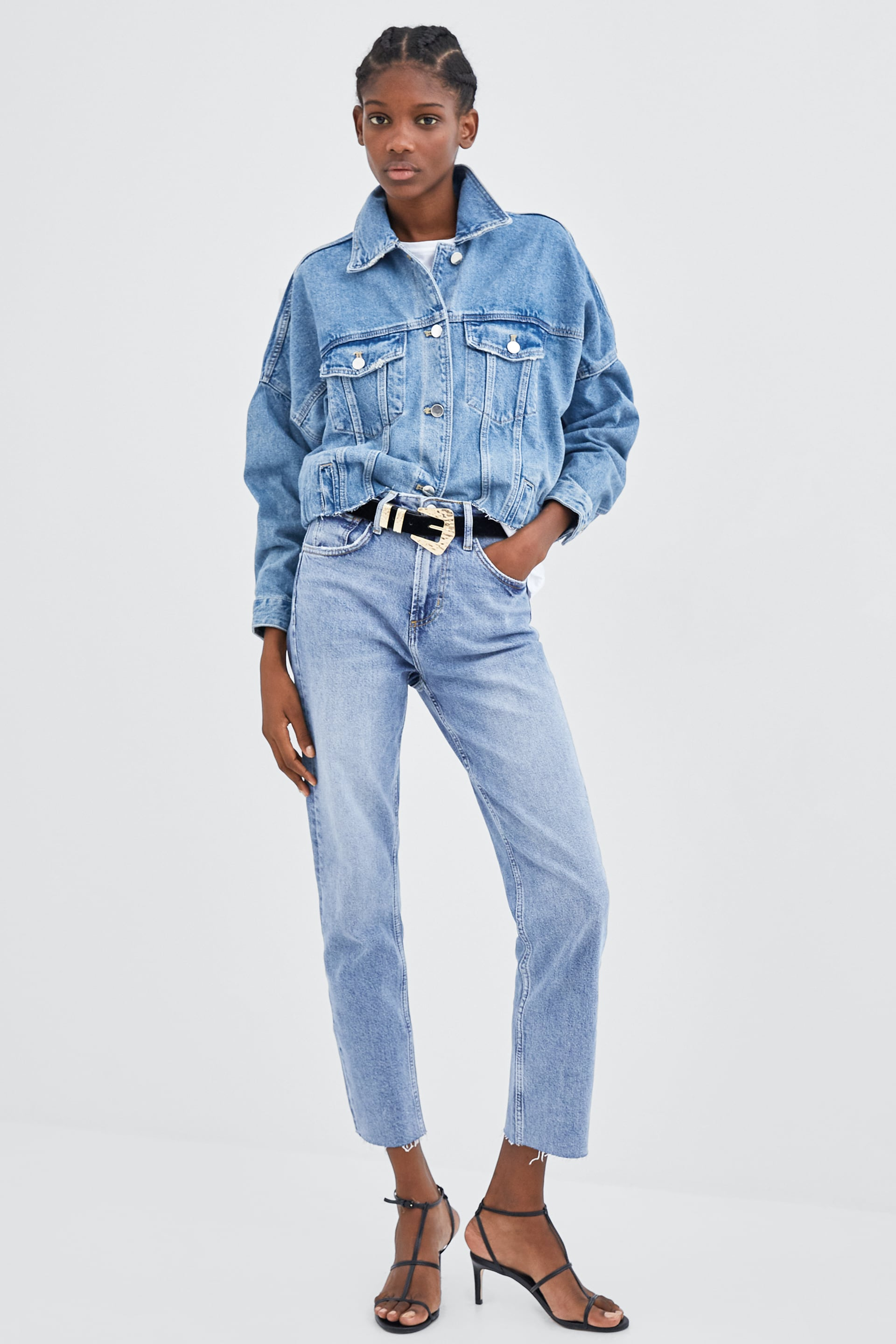Jeans Hi  Rise Straight Ver Tudo Jeans Mulher by Zara