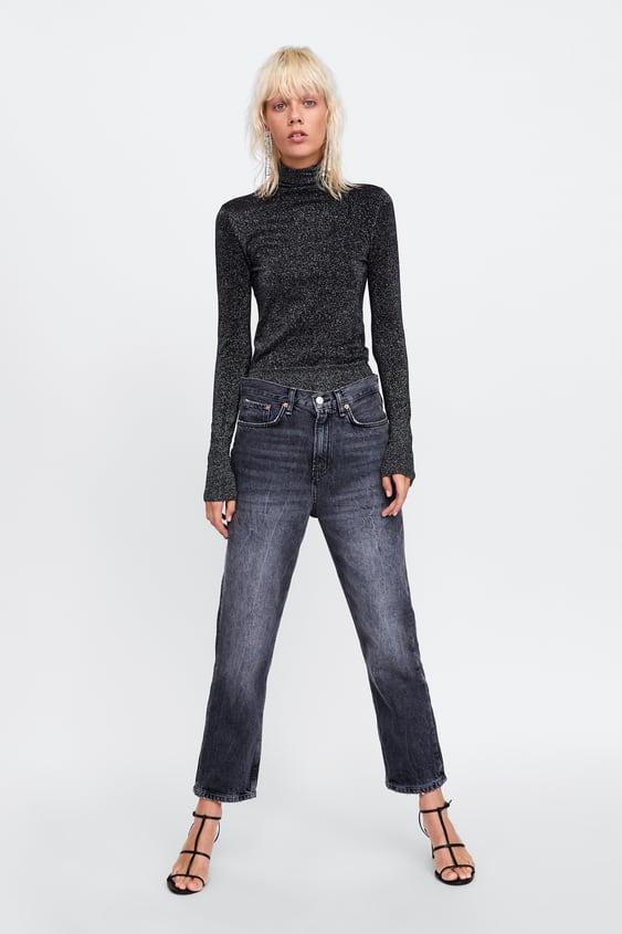 Sweater With Metallic Thread  Best Sellerswoman by Zara