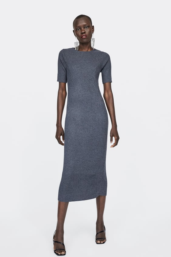 Ribbed Dress  View All Dresses Woman by Zara