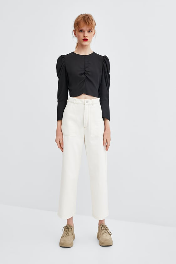 8f0ffe91eb193 FLOWY PLEATED TOP - TOPS-SALE-WOMAN
