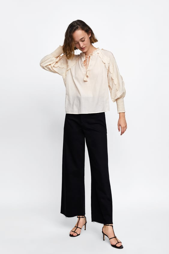 Blouse With Troubleshooting  View All Blousen Ladies Sale  Zara Netherlands by Zara
