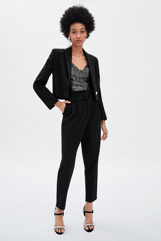 Trousers With Buckled Belt  Trouserswoman Sale by Zara