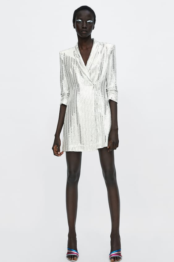 Metallic Suit Dress View All Dresses Woman Sale by Zara
