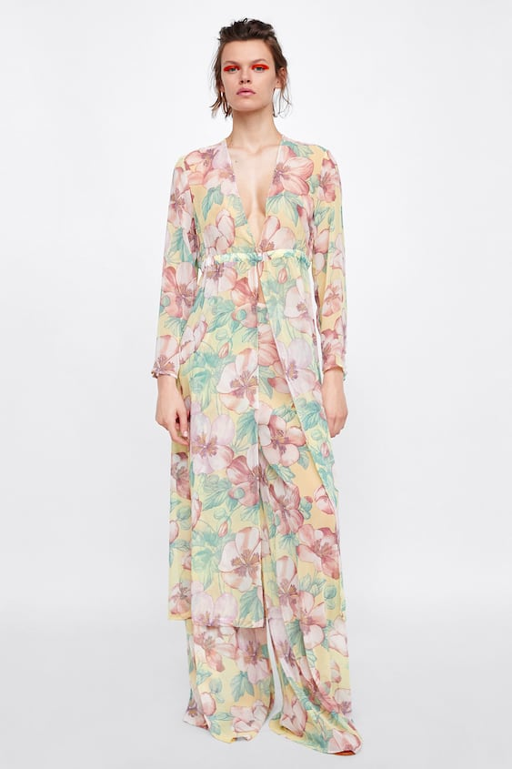 Floral Print Tunic  Outerwearstarting From 50 Percents Off Woman Sale by Zara