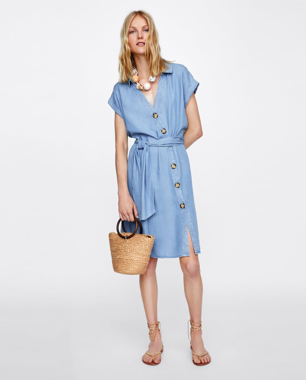 3d080b6e3c Shoptagr   Shirt Dress With Buttons View All Dresses Woman Aw/18 by Zara