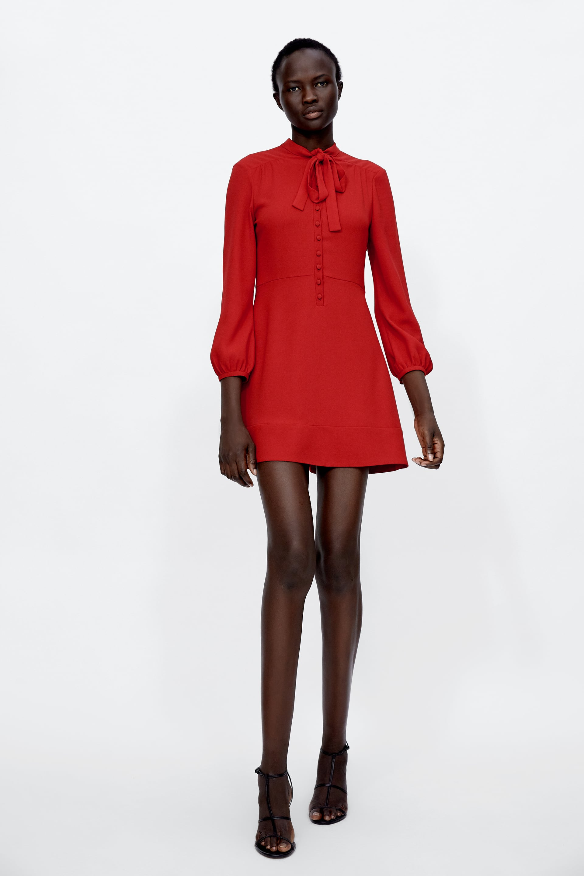 Image 1 of MINI DRESS WITH BOW from Zara