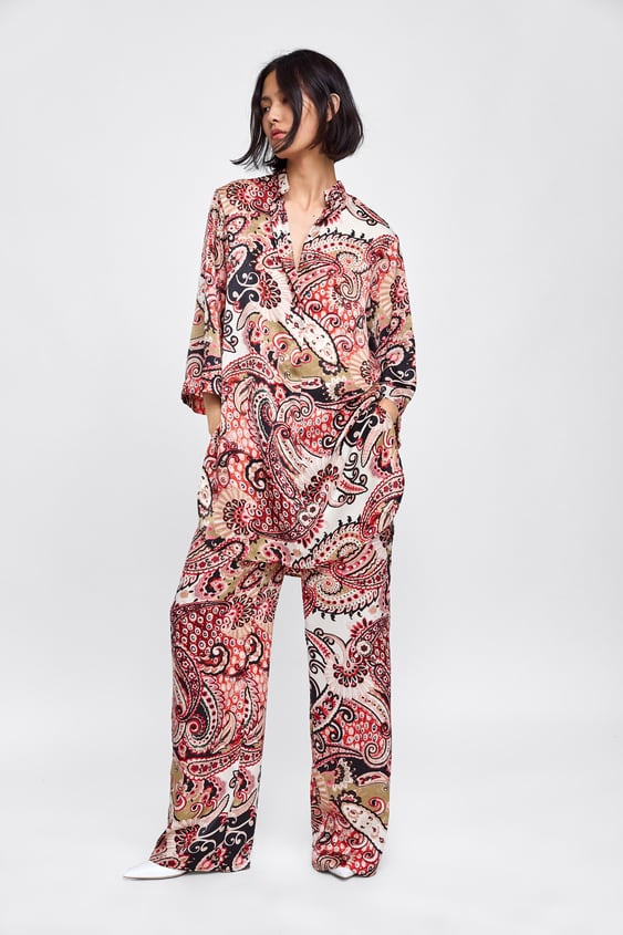 Paisley Printed Oversized Blouse View All Dresses by Zara
