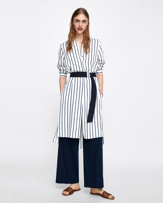 belted-dress-with-buttons--new-inwoman by zara