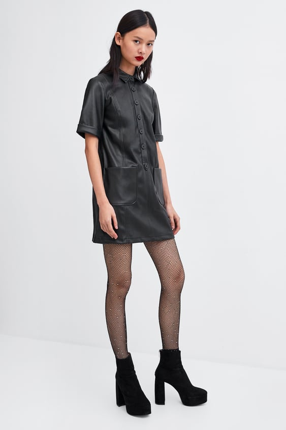 LEATHER - EFFECT DRESS-DRESSES-SALE-WOMAN   ZARA United Kingdom 5021dce8de4b