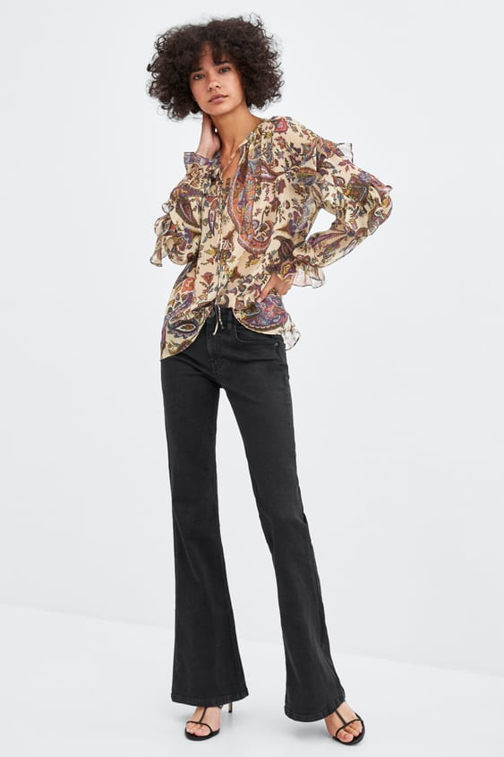Flowy Printed Top  Blouses Shirts by Zara