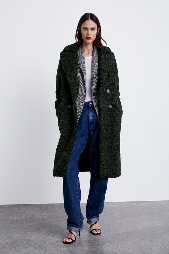 Fleece Coat  Winter Moodwoman by Zara