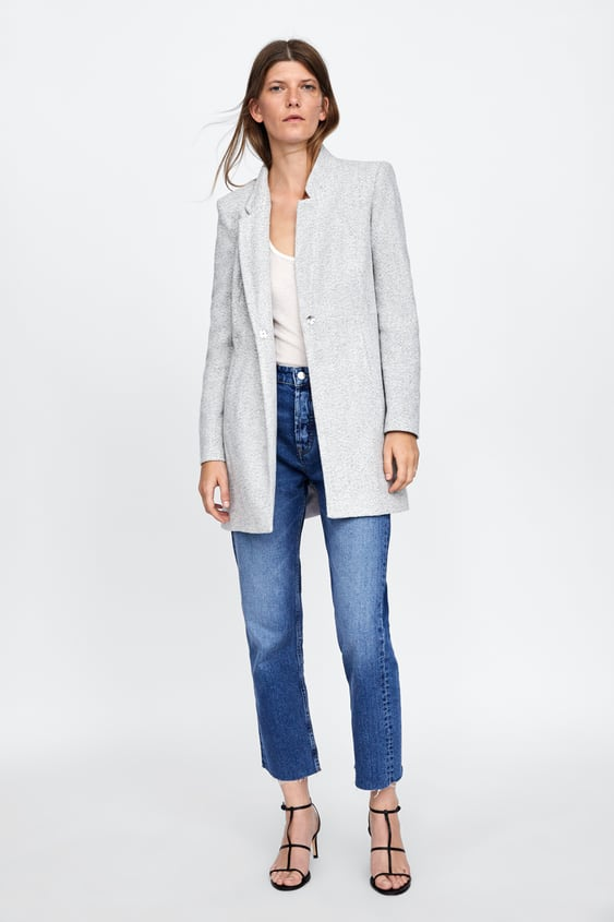 Inverted Lapel Collar Frock Coat  View All Coats Woman by Zara