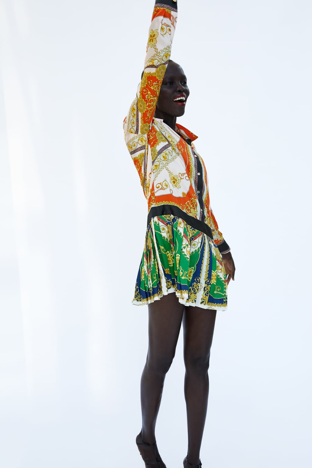 Image 1 Of CHAIN PATCHWORK PRINT DRESS From Zara