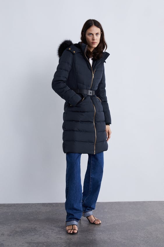 93eab348b HOODED DOWN PUFFER COAT