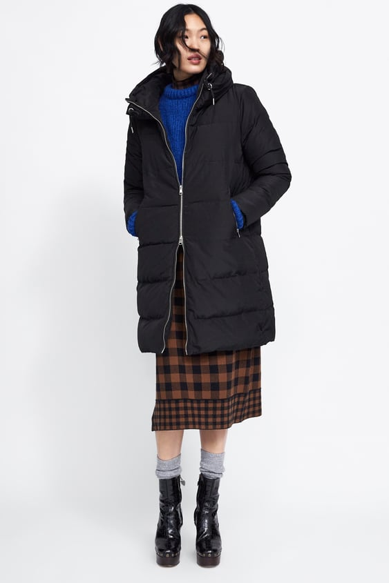 Hooded Down Coat View All Coats Woman by Zara