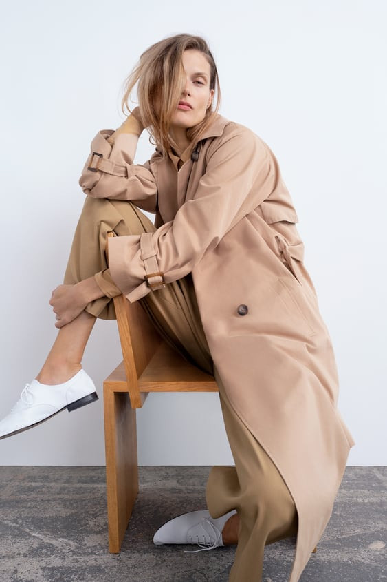 Langer Trenchcoat Kollektion Timeless Damen Corner Shops by Zara