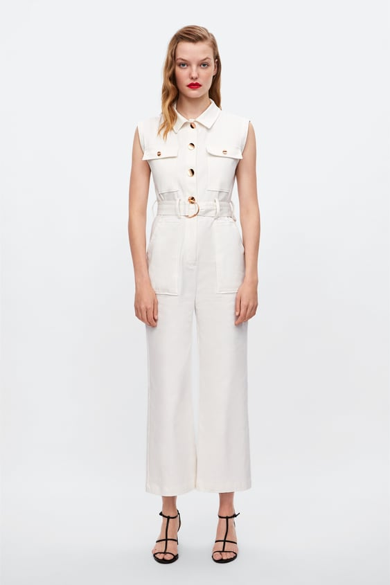 Jumpsuit With Belt Jumpsuitswoman Sale by Zara