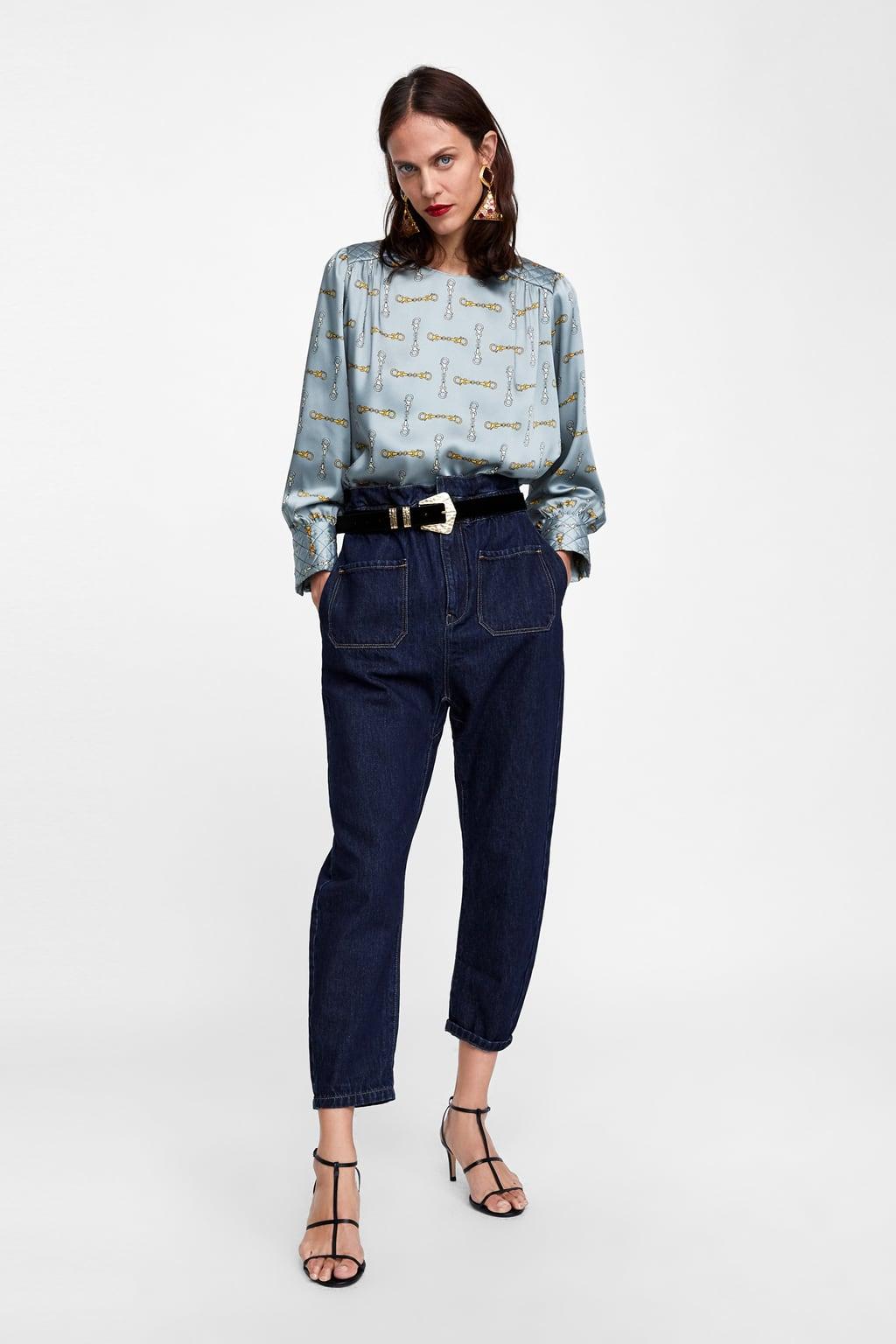 super popular barato mejor valorado última tecnología Shoptagr | Cuerpo Estampado Cadenas Blusas by Zara
