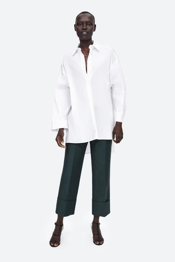 Camisa PopelÍn Oversize  Camisas Camisas Y Blusas Mujer by Zara