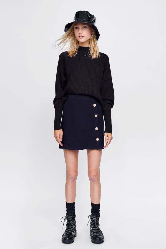 Knit Mini Skirt With Buttons View All Knitwear Woman Sale by Zara