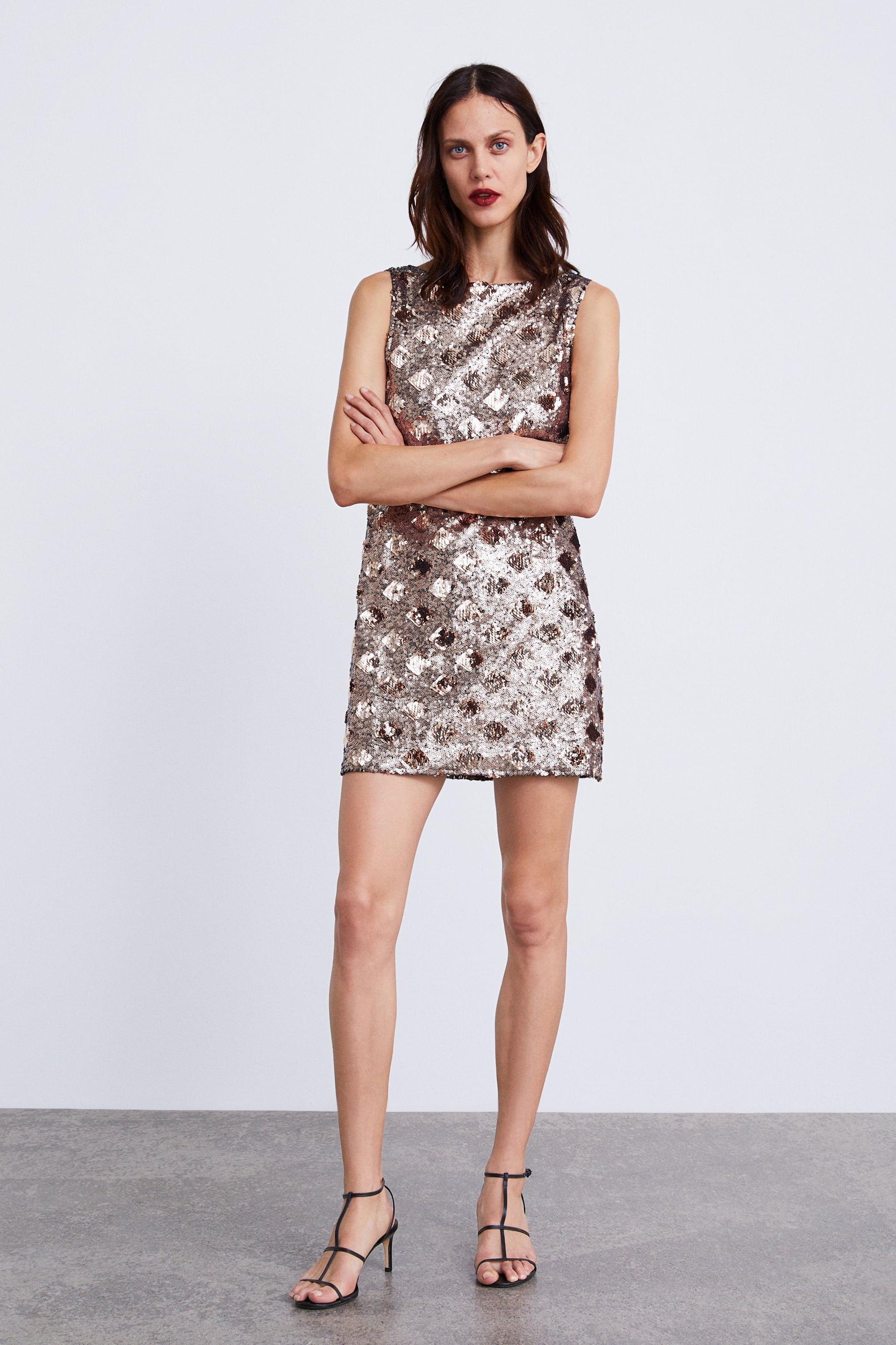Diamond Sequin Dress  View All Dresses Woman by Zara