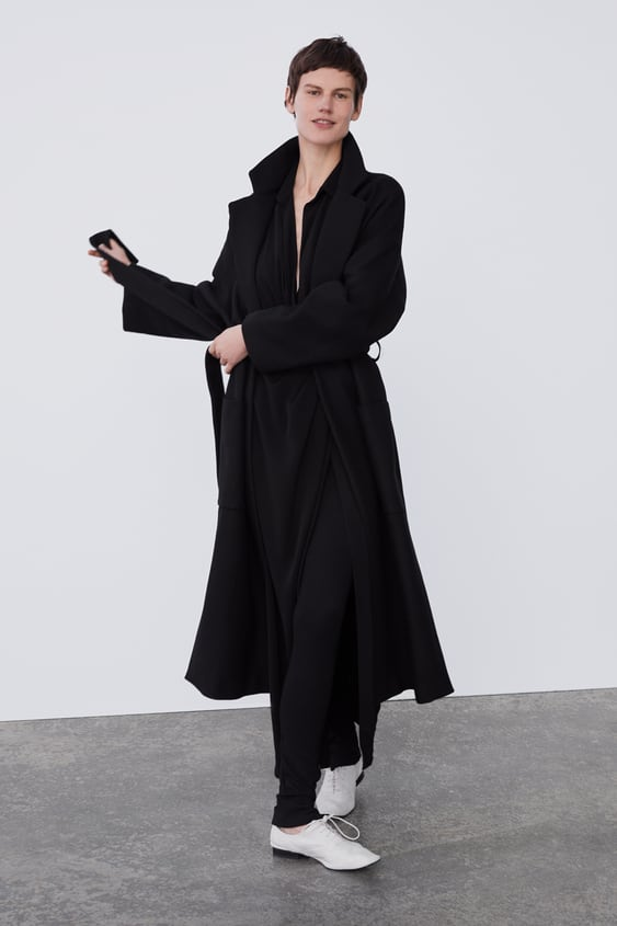 Coat With Belt  View All Coats Woman by Zara