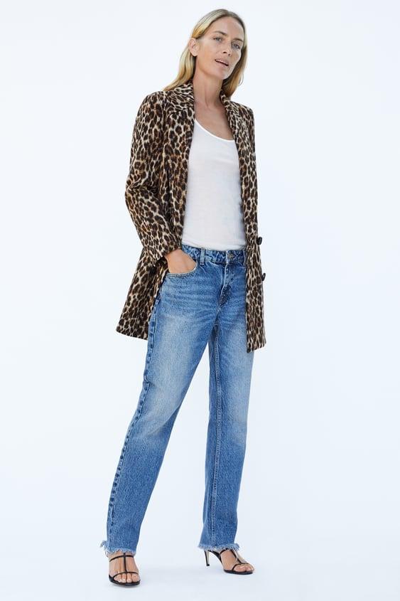 592a67bc04fa Shoptagr   Leopard Print Jacquard Coat by Zara