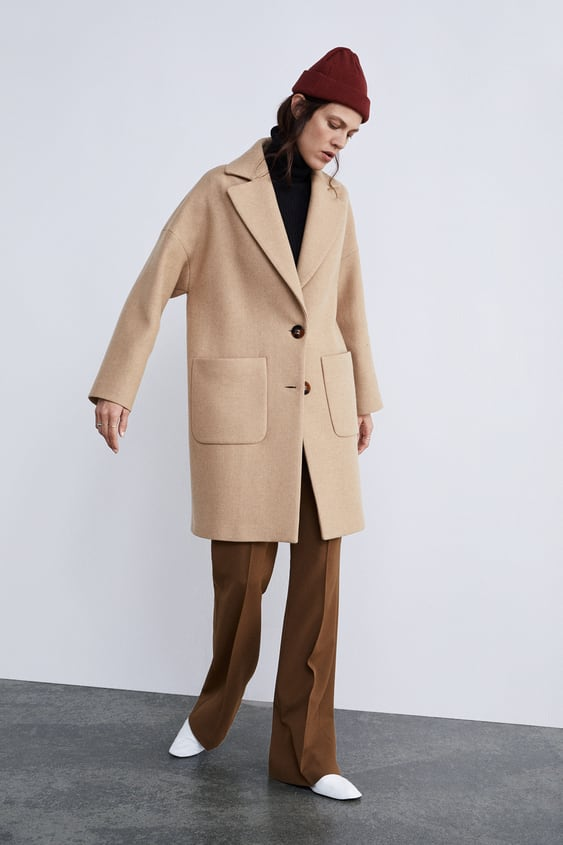 Buttoned Coat View All Coats Woman by Zara