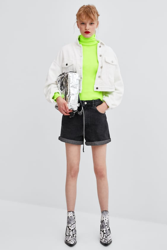 Hi  Rise Mom Jean Shortsbottoms Starting From 50 Percents Off Woman Sale by Zara