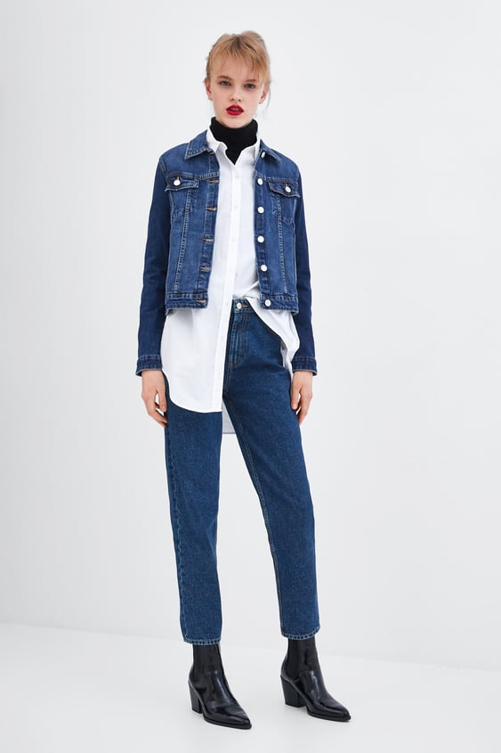 Authentic Denim Mom Fit Jeans Starting From 50% Offwoman Sale by Zara