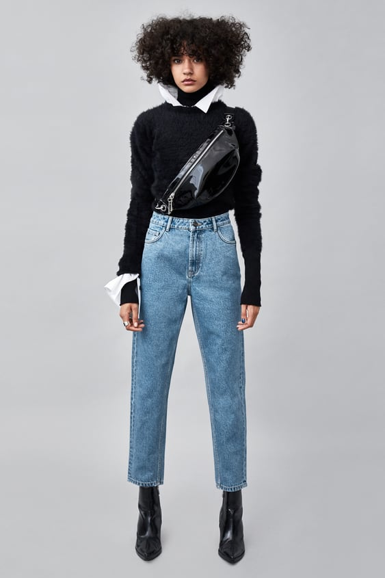 Jeans Mom Fit Authentic Denim  Jeansdame Salg by Zara