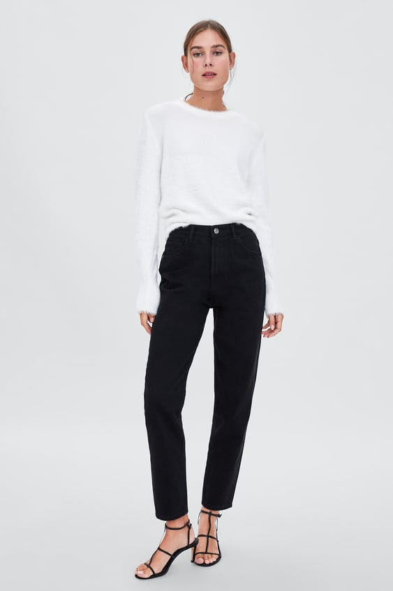 Authentic Denim Mom Jeans  View All Knitwear Woman by Zara