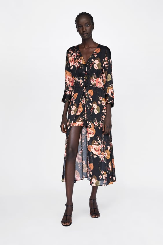 fc52b51c3bd Image 1 of FLORAL PRINT JUMPSUIT DRESS from Zara
